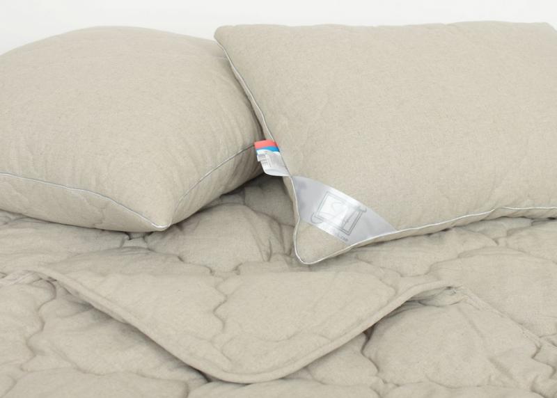 Подушки с наполнителем из льна