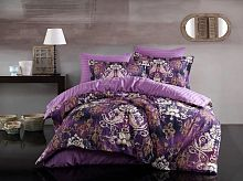 Постельное белье 3D страйп сатин Clair Dark Lilac Maison D'or